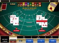 table de baccarat cartes