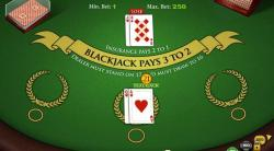 table blackjack cartes