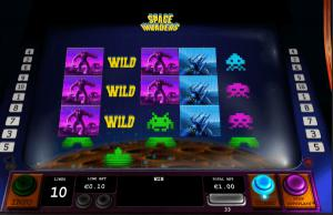 space invaders slot wild